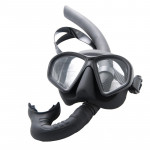 Marlin Dive Freedive Spearfishing Snorkel Matte Black