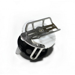 Spearfishing Speargun Reel Pelengas  Stanless Steel -Plastik with Side Exit Line (Black-White)