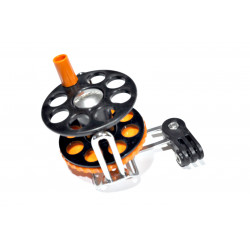 Spearfishing Speargun Reel Stanless Steel -Plastik With Camera Mount (black-orange)