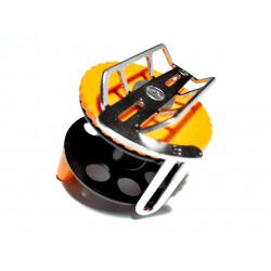 Spearfishing Speargun Reel Pelengas  Stanless Steel -Plastik with Side Exit Line (Black-Orange)